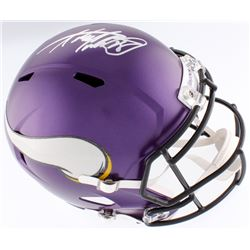 Adrian Peterson Signed Vikings Full-Size Speed Helmet (Fanatics Hologram)