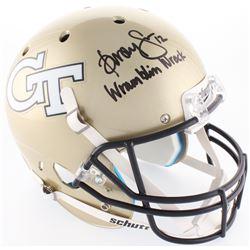 "Dorsey Levens Signed Georgia Tech Yellow Jackets Full-Size Helmet Inscribed ""Wramblin Wreck"" (Radtke"