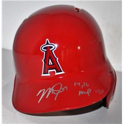 "Mike Trout Signed Angels Authentic Full-Size Batting Helmet Inscribed ""'14/'16 MVP"" (Steiner COA)"