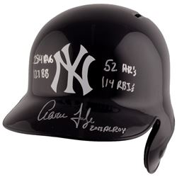 "Aaron Judge Signed Yankees Full-Size Batting Helmet Inscribed ""2017 AL ROY"", "".284"", ""114 RBI's"", ""5"