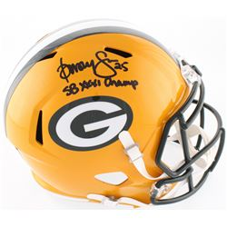 "Dorsey Levens Signed Packers Full-Size Speed Helmet Inscribed ""SBXXXI Champ"" (Radtke COA)"