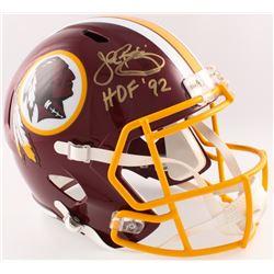 "John Riggins Signed Redskins Full-Size Speed Helmet Inscribed ""HOF 92"" (JSA COA  Radtke Hologram)"