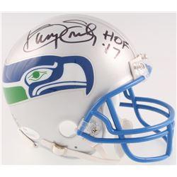 "Kenny Easley Signed Seahawks Throwback Mini-Helmet Inscribed ""HOF 17"" (JSA COA)"