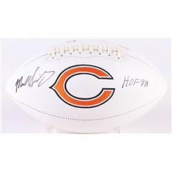 "Mike Singletary Signed Bears Chicago Logo Football Inscribed ""HOF 98"" (Beckett COA)"