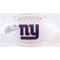 Michael Strahan Signed Giants Logo Football (JSA COA)