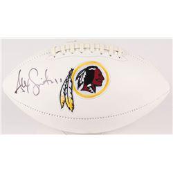 Alex Smith Signed Redskins Logo Football (Beckett COA)
