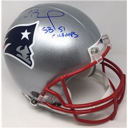 """Tom Brady Signed Limited Edition Patriots Full-Size Authentic Pro-Line Helmet """"SB 51 Champs"""" (TriSta"""
