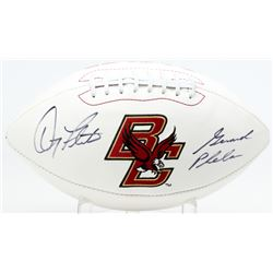 Doug Flutie  Gerard Phelan Signed Boston College Eagles Logo Football (JSA COA)