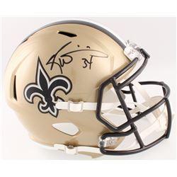 Ricky Williams Signed Saints Full-Size Speed Helmet (Radtke COA)