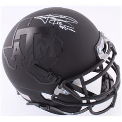 Johnny Manziel Signed Texas AM Matte Black Mini-Helmet (JSA COA)