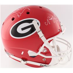 Sony Michel and Nick Chubb Signed Georgia Bulldogs Full-Size Helmet (Radtke COA)