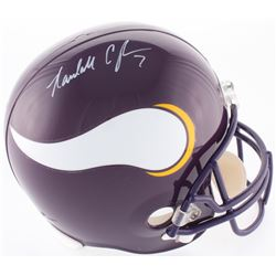 Randall Cunningham Signed Vikings Full-Size Throwback Helmet (JSA COA)