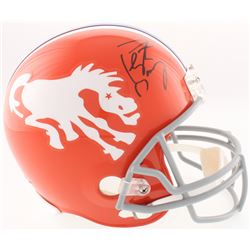 Peyton Manning Signed Broncos Full-Size Throwback Helmet (Fanatics Hologram)