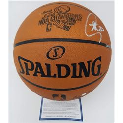 """Stephen Curry Signed LE NBA """"Back to Back Champions"""" Game Ball Series Basketball (Steiner COA)"""