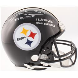 "Hines Ward Signed Steelers Full-Size On-Field Helmet Inscribed ""SB XL MVP"", ""12,083 Yds""  ""1000 Catc"