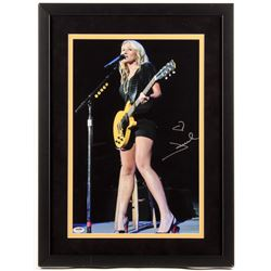 Jewel Signed 17x23 Custom Framed Photo (PSA COA)
