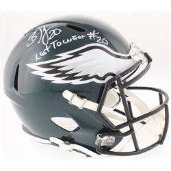 "Brian Dawkins Signed Eagles Full-Size Speed Helmet Inscribed ""Last To Wear #20"" (JSA COA)"