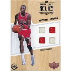 Michael Jordan 2016-17 Upper Deck Supreme Hardcourt NBA Relics Floor With (4) Jersey Swatches