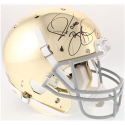 Jerome Bettis Signed Notre Dame Fighting Irish Chrome Full-Size Helmet (JSA COA)