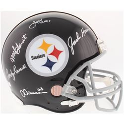 """Steelers """"Defensive Greats"""" Full-Size Authentic On-Field Helmet Signed By (5) With Joe Greene, Jack"""