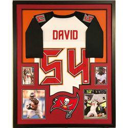 Lavonte David Signed 34x42 Custom Framed Jersey (JSA COA)