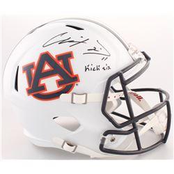"Chris Davis Signed Auburn Tigers Full-Size Speed Helmet Inscribed ""Kick Six"" (Radtke COA)"