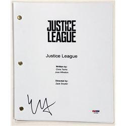 "Ezra Miller Signed ""Justice League"" Full Movie Script (PSA COA)"