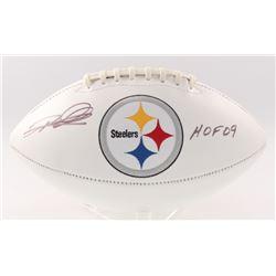 "Rod Woodson Signed Steelers Logo Football Inscribed ""HOF 09"" (JSA COA)"