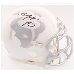 DeAndre Hopkins Signed Texans Matte White ICE Mini Speed Helmet (JSA COA)