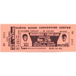 Unused 1971 Muhammad Ali  Buster Mathis Fight Ticket