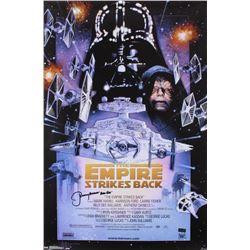 "Jeremy Bulloch Signed ""The Empire Strikes Back"" 24x36 Movie Poster Inscribed ""Boba Fett"" (Radtke COA"