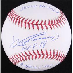 Vladimir Guerrero Signed OML Baseball with Multiple Inscriptions (JSA COA)