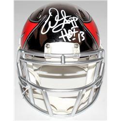 """Warren Sapp Signed Buccaneers Mini Chrome Speed Helmet Inscribed """"HOF 13"""" (JSA COA)"""