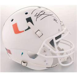 Ray Lewis Signed Miami Hurricanes Full-Size On-Field Helmet (Radtke COA  Lewis Hologram)