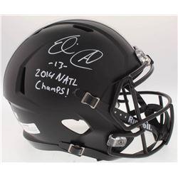 "Eli Apple Signed Ohio State Buckeyes Full-Size Speed Helmet Inscribed ""2014 NATL Champs!"" (Radtke CO"