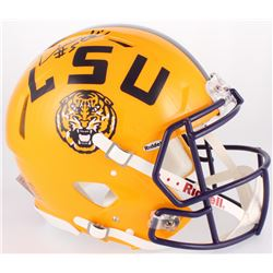 Derrius Guice Signed LSU Tigers Full-Size On-Field Speed Helmet (Radtke COA)