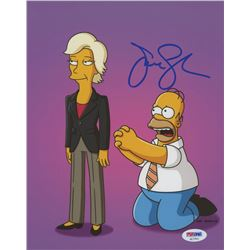 "Jane Lynch Signed ""The Simpsons"" 8x10 Photo (PSA COA)"