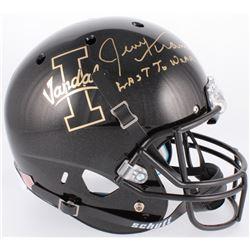 "Jerry Kramer Signed Idaho Vandals Full-Size Helmet Inscribed ""Last To Wear 64"" (Radtke COA)"