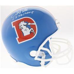 "Terrell Davis Signed Broncos Full-Size Throwback Helmet Inscribed ""2X SB Champ"" (Radtke COA)"