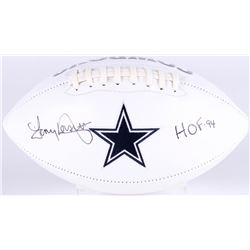 Tony Dorsett Signed Cowboys Logo Football Inscribed  HOF 94  (JSA COA)
