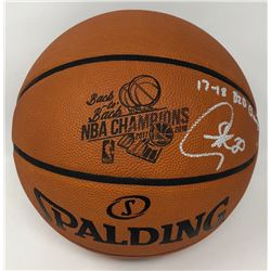 """Stephen Curry Signed """"Back-to-Back NBA Champions"""" Limited Edition Official NBA Game Ball Basketball"""