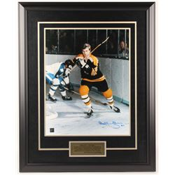 Bobby Orr Signed Bruins  The Game  25.5x31.5 Custom Framed Photo Display (Great North Road COA)
