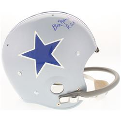 Don Meredith Signed Cowboys Throwback Suspension Full-Size Helmet Inscribed  R.O.H 76  (TriStar Holo