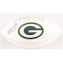 Paul Hornung Signed Packers Logo Football Inscribed  56 H  (Radtke COA)