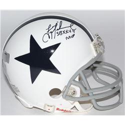 "Troy Aikman Signed Cowboys Mini-Helmet Inscribed ""SB XXVII MVP"" (Radtke COA  Aikman Hologram)"