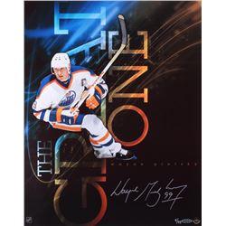 Wayne Gretzky Signed Oilers LE 16x20.25 Custom Aluminum Print on Mounted Frame (UDA COA)