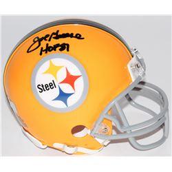 "Joe Greene Signed Steelers Throwback Mini Helmet Inscribed ""HOF 87"" (Radtke COA)"
