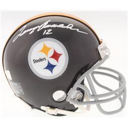 Terry Bradshaw Signed Steelers Throwback Mini Helmet (Radtke COA  Bradshaw Hologram)