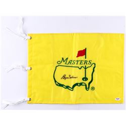 Byron Nelson Signed Masters Tournament Pin Flag (PSA COA)
