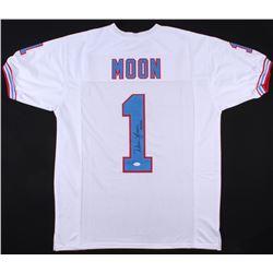 """Warren Moon Signed Jersey Inscribed """"HOF 06"""" (Radtke COA)"""